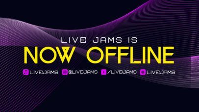 Twitch Offline Banner Maker with Curved Textures  2706g