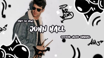 YouTube Banner Generator for a Music Channel with Graffiti Graphics 2704b
