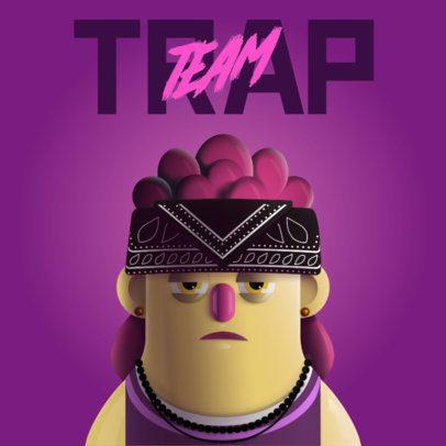 3D Avatar Logo Maker for a Trap Musician 3428c