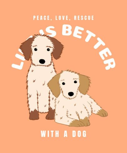 T-Shirt Design Generator Featuring Two Puppies 2701d