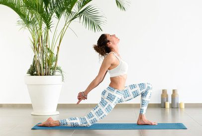 Mockup of a Female Yogi Wearing Leggings During Her Practice 38582-r-el2