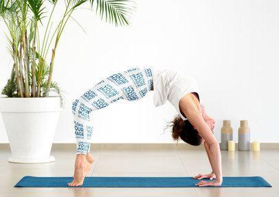 Sublimated Leggings Mockup of a Woman Doing an Advanced Yoga Pose 38568-r-el2