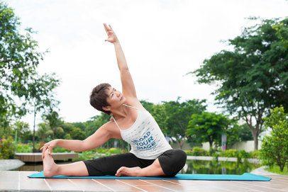 Tank Top Mockup of a Female Yogi Practicing Outside 38481-r-el2