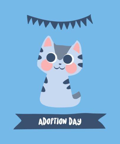 Illustrated T-Shirt Design Maker Featuring Cute Kittens 2104-el1