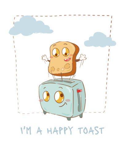 T-Shirt Design Generator Featuring a Toast and a Toaster Cartoons 2177b-el1