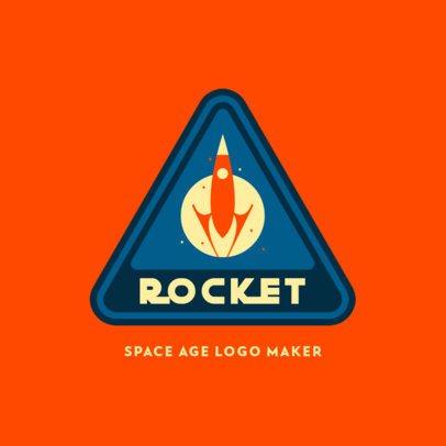 Logo Maker Featuring a 60's-Inspired Rocket Emblem 3451c