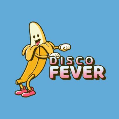 Logo Creator Based on Fortnite Featuring a Banana Dancing 3453l