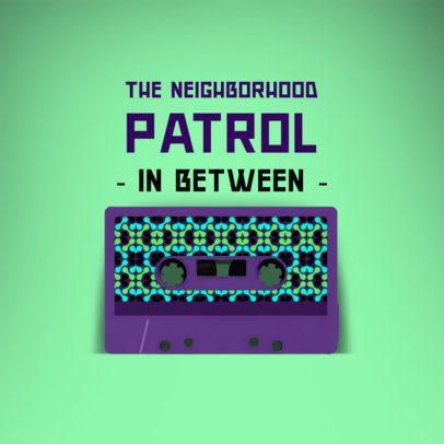 Album Cover Generator Featuring a Cassette with a Retro Design 2712d