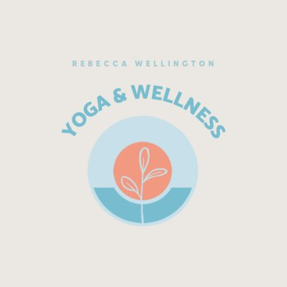 Yoga and Wellness Logo Maker With a Simple Style 3465