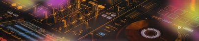 SoundCloud Banner Maker with a Film Burn Overlay Effect 2730i
