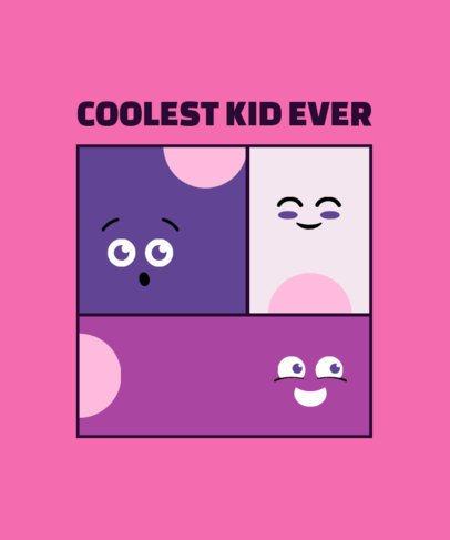 T-Shirt Design Template for a Cool Kid 2214b-el1