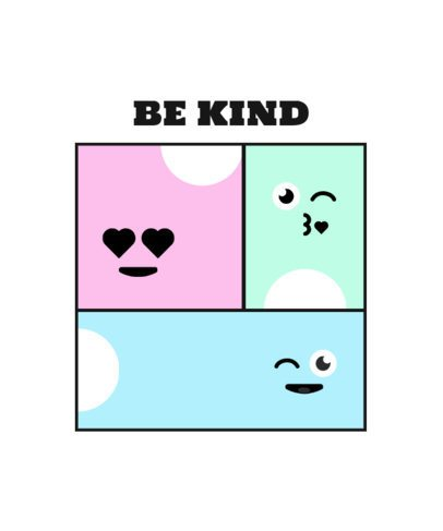 Kids T-Shirt Design Template with a Kind Message 2214e-el1