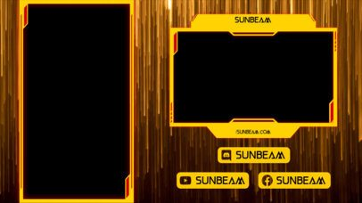 Twitch Overlay Creator Featuring Vertical Golden Stripes 2729f