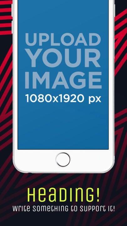 Portrait White iPhone 6 Plus Cut iOS Screenshot Builder 1354