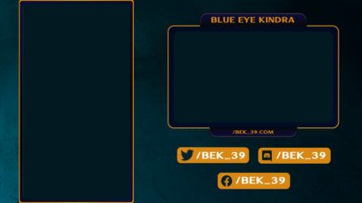 Twitch Overlay Template Featuring a Thin-Line Vertical Screen Frame 2729j
