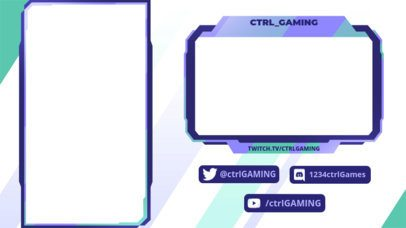 Twitch Overlay Design Template for Vertical Games with a Minimal Layout 2729c
