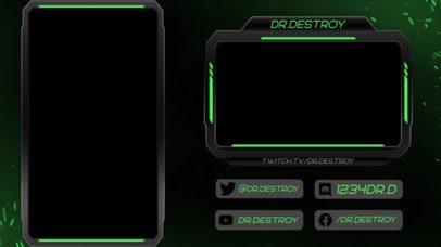Twitch Overlay Design Template Featuring a Vertical Layout 2729e