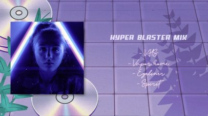 YouTube Thumbnail Template Featuring a Futuristic Background Design 2739a