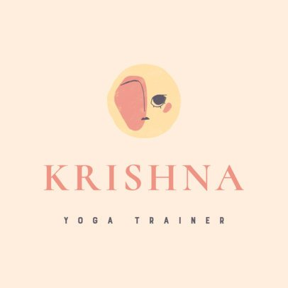 Logo Maker with Pale Colors for a Yoga Trainer 3464b