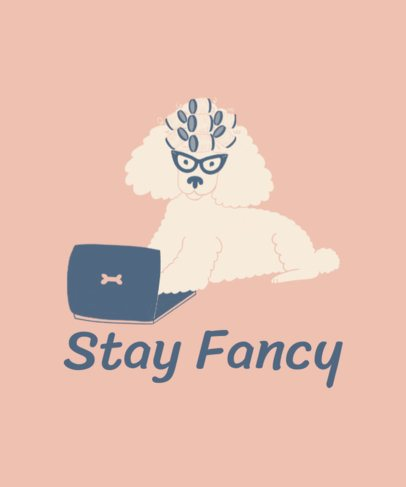Sassy T-Shirt Design Template with a Poodle Graphic 2736c