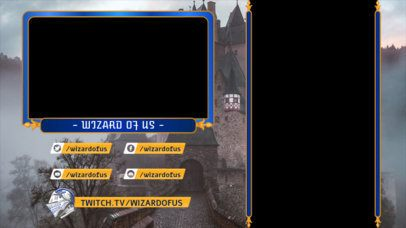 Twitch Overlay Template for Mobile Gaming Featuring a Medieval Castle 2727b