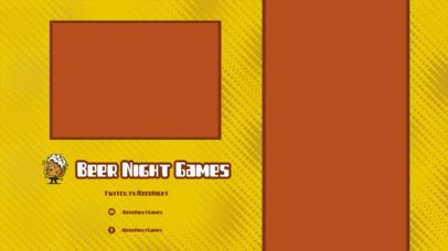 Twitch Overlay Maker Featuring a Clean Grid for Mobile Games with a Vertical Frame 2728g