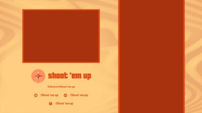 Gaming Twitch Overlay Design Maker Featuring a Sand-Texture Background 2728l