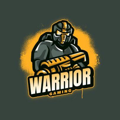 Logo Maker of a Robotic Warrior Featuring a Paint Splash Effect 2367c-el1