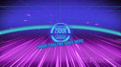 Intro Video Template for a Logo Reveal with a Retro Style 2085-el1