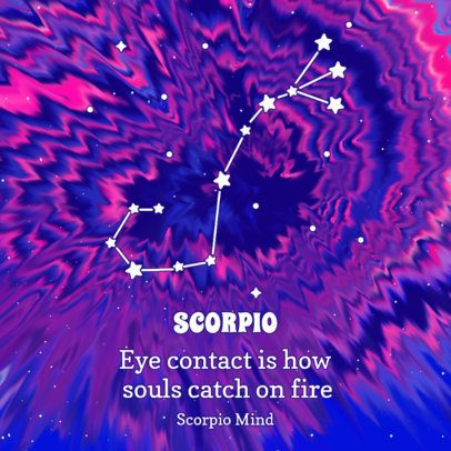 Astrology-Themed Instagram Post Creator with a Tie-Dye Colored Background 2765b