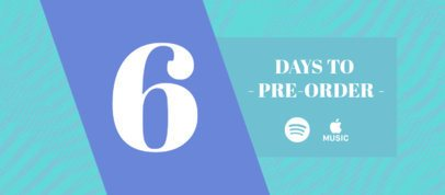 Facebook Cover Creator Featuring a New Music Countdown 2760h
