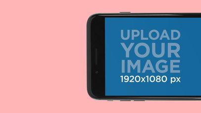 Half Of Black iPhone 7 In Landscape Position App Store Screenshot Maker 1312
