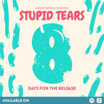 Trendy Music-Themed Instagram Post Template for an Album Release Countdown 2750d