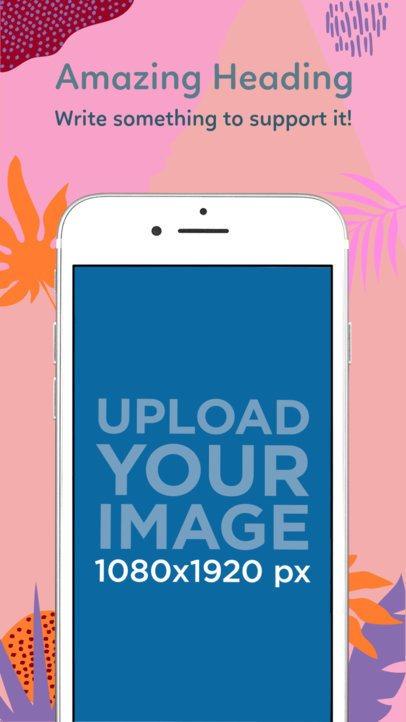Silver iPhone 7 Three Quarters Portrait App Store Screenshot Generator 1344
