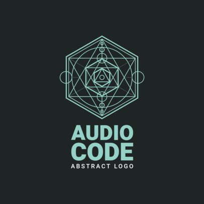 Logo Maker for an Audio Editor Software Featuring a Geometric Graphic 2439e-el1