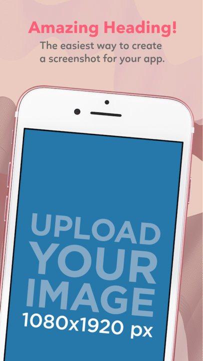 App Store Screenshot Generator of a Pink iPhone Diagonal Portrait 1305a
