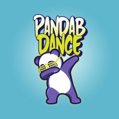 Online Logo Template with a Graphics of a Panda Dabbing 3529a