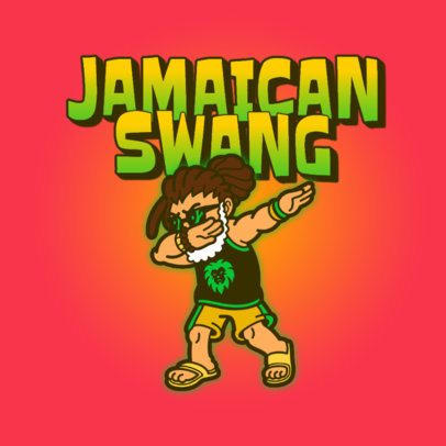 Streetwear Logo Template Featuring Dabbing Cartoon Characters 3529r