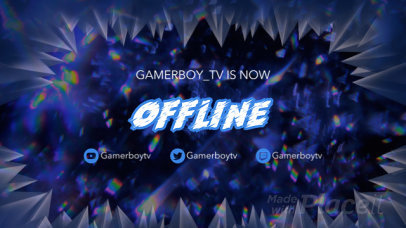 Twitch Offline Screen Video Maker with a Sound Wave Animation 399
