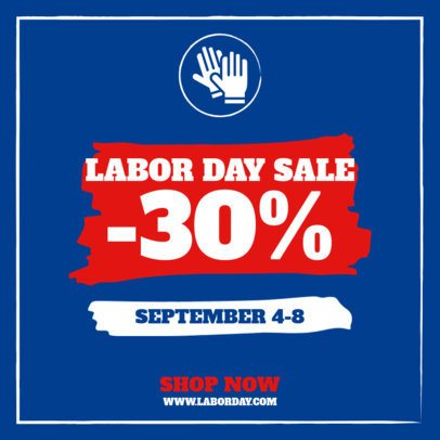 Patriotic-Themed Instagram Post Template for Labor Day 2469b-el1