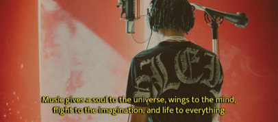 Facebook Cover Creator with an Inspiring Quote for Music Enthusiasts 2794c