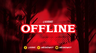 Twitch Offline Banner Template Featuring Spooky Background Graphics 2796a