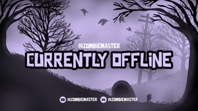 Twitch Offline Banner Generator for Horror Game Streams Featuring an Eerie Background 2796f