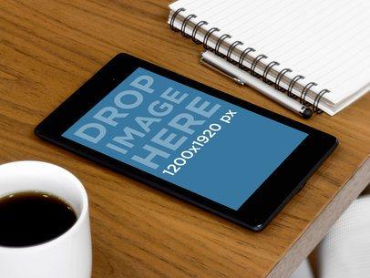 Nexus 7 Portrait Wooden Desk Business Environment