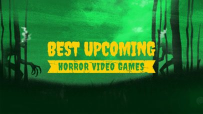 YouTube Thumbnail Maker for an Upcoming Horror Video Games Ranking 2797d