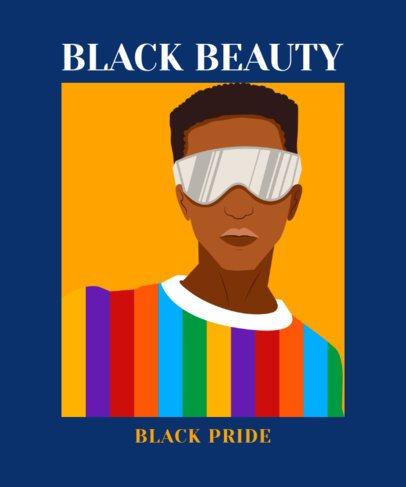 Colorful T-Shirt Design Creator Featuring a Black Man Illustration 2802d
