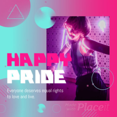 Instagram Video Maker with a Happy Pride Message 2162