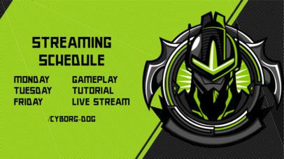 Gaming Twitch Banner Maker for a Schedule Featuring a Masked Warrior 2811e