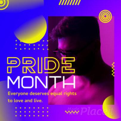 Modern Instagram Video Maker for an LGBTQ-Pride Month Celebration 2161