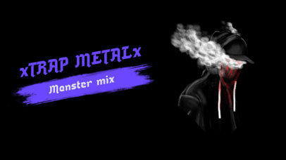 YouTube Thumbnail Creator Featuring Dark Graphics for a Trap Metal Mix 2819f